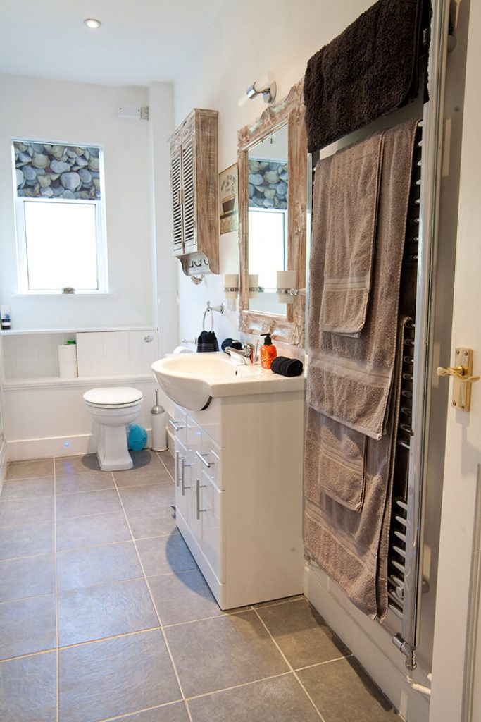 Clean and comfortable bathroom